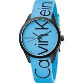 Calvin Klein CK Color 時尚運動腕錶–藍/40mm K5E51TVN