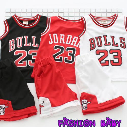 童裝 休閒籃球服1-2寶寶透氣舒適運動套裝 Fashion Baby