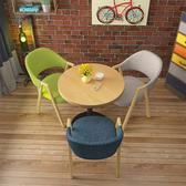洽談圓桌接待會客小圓桌商務辦公室休息區休閒奶茶咖啡店洽談桌椅組合簡約 LX 智慧e家