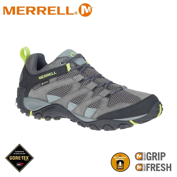 【MERRELL 美國 男 ALVERSTONE MID GORE-TEX登山鞋《深灰》】ML036215/健行鞋/登山鞋