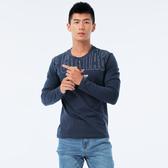 BigTrain 潮轉主題圓領長袖男款-男-深藍-Z2022556(領劵再折)