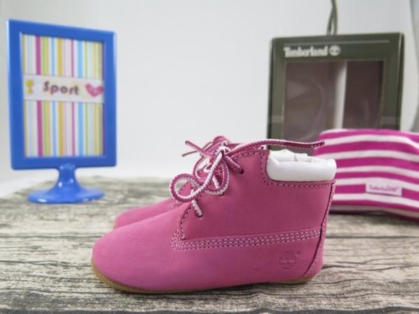 【iSport愛運動】Timberland 經典黃靴 粉紅BABY 小童鞋 9680R 尺寸4c