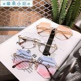 太陽眼鏡 韓版復古原宿風墨鏡太陽眼鏡
