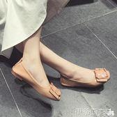 豆豆鞋鞋子女2018新款百搭韓版學生夏平底孕婦豆豆鞋牛筋軟底春季單鞋女 伊蒂斯女裝