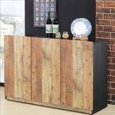 【新北大】✪ G404-1 尼克森4尺厚切木紋三門收納櫃 -18購