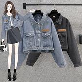 S-5XL大碼牛仔外套~長袖牛仔短款寬松大碼女裝胖mm韓版外套.R028衣時尚