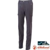Wildland 荒野 S2373-90灰色 女貼袋四季款休閒長褲 修身剪裁/防潑機能褲/爬山健行/運動休閒褲*
