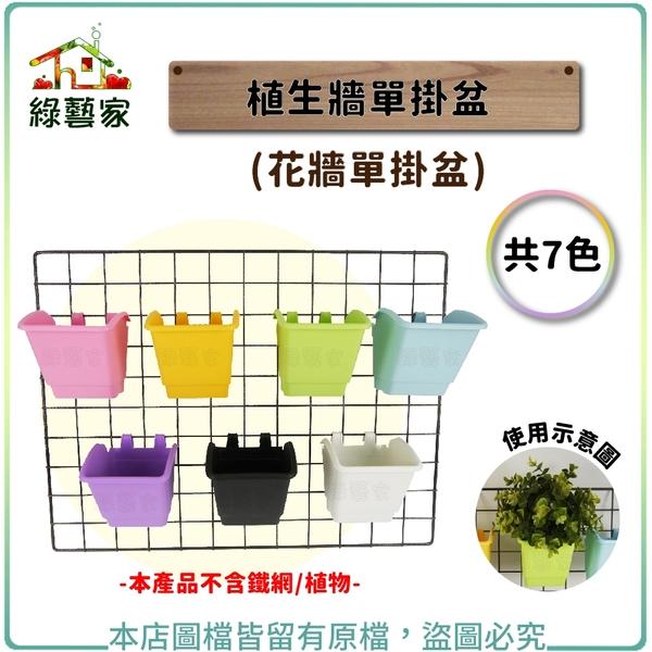 【綠藝家】植生牆單掛盆(花牆單掛盆)共7色