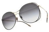 BURBERRY太陽眼鏡 B3105 10178G (黑金-漸層藍鏡片) 時尚金屬流線款 # 金橘眼鏡