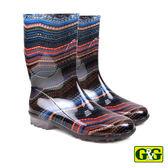 【G&G】時尚北歐風圖紋中筒雨靴 (58630-CO)