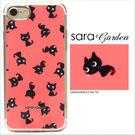 客製化 軟殼 iPhone 8 7 6 6S Plus 手機殼 保護套 全包邊 掛繩孔 手繪粉嫩黑貓