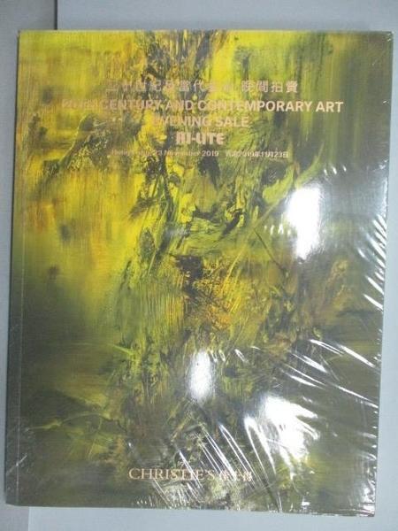 【書寶二手書T6/收藏_FEW】Christie s_二十世紀及當代藝術晚間拍賣_2019/11/23