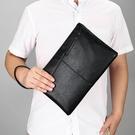 男生包包韓版休閒手拿包 時尚多功能男士手機包 格調夾包簡約潮流手抓包 商務手拿包大容量手包
