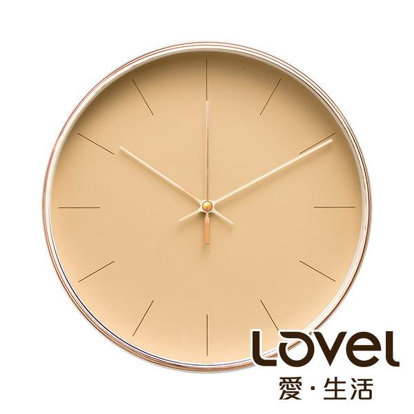 Lovel 25cm簡約玫瑰金框靜音時鐘- 共4款