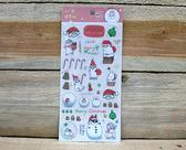 ㄇㄚˊ幾過聖誕透明貼紙(16010) 麻幾兔 麻吉兔 ㄇㄚˊ幾兔 【金玉堂文具】