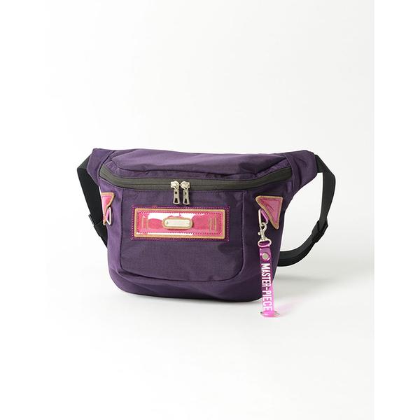 MSPC(master-piece) STRANGE No.02463 [異色異材質拼接復古斜肩包-紫色]