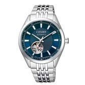 CITIZEN星辰 開芯鏤空時尚機械腕錶/NH9110-81L