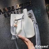 流蘇包 包包女2021新款寬肩帶子母包撞色斜背包氣質流蘇側背包 愛麗絲