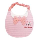 【日本製】【Rub a dub dub】幼童用 制服風 寶寶圓點圍兜兜 粉色 SD-9132 - Rubadubdub