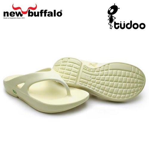 A0586 牛頭牌 【new buffalo】土豆星球tudoo動態平衡人字拖-懷特號 / 白