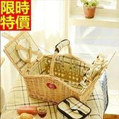 野餐籃 餐具組合-戶外保溫四人份郊遊用品68e14【時尚巴黎】