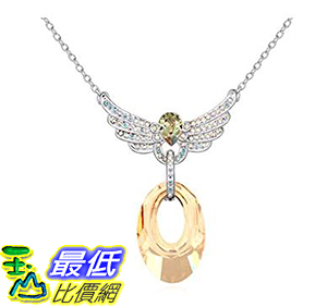 [美國直購] Gorgeous Jewelry Love Wings Pendant Swarovski Austrian Crystal Deluxe Diamond Accented Drop Necklace