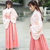 民族風傳統漢服女古裝貴妃仙女襦裙曲裾漢元素廣袖改良成人演出服