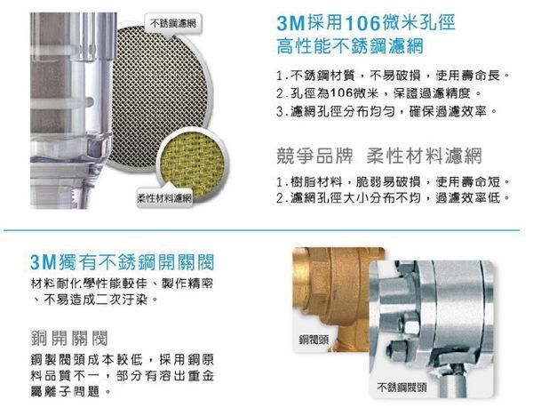 【水達人】3M 全戶式淨水系統~ 3M SS802全戶式不鏽鋼淨水系統+反洗式淨水系統 BFS1-100 贈AP817-2濾心