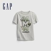 Gap男童 Gap x 我的世界聯名系列純棉印花T恤 689883-灰色