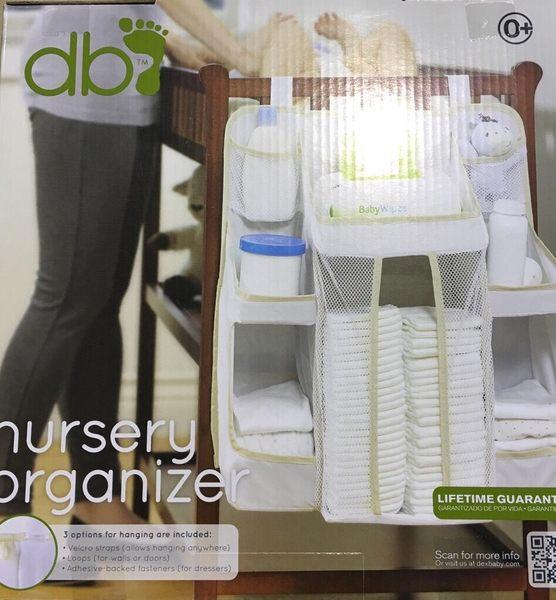 外盒壓傷 全新品 美國Dex Baby Nursery Organizer 尿布收納袋(白色) 尿布置物袋-超級BABY