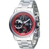 ALBA 特種精英逆跳計時男錶-紅+黑(AS6031X1)