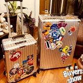 復古懷舊行李箱貼紙歐美筆記本吉他衣柜旅行箱貼拉桿箱子防水箱貼