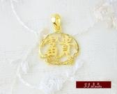 9999純金 黃金 富貴 墜子 墜飾 項鍊 送精緻皮繩項鍊