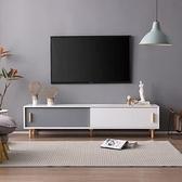 電視櫃 北歐電視櫃茶几組合現代簡約客廳家用小戶型經濟型實木腿電視機櫃【快速出貨】