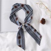 小絲巾 印花領巾圍巾裝飾頭巾女發帶