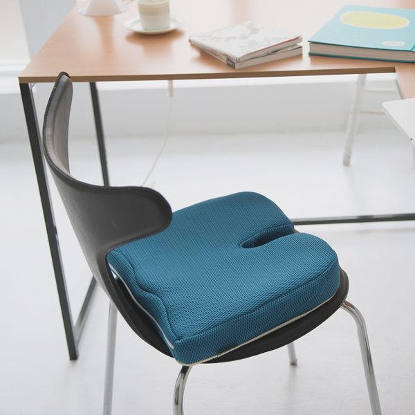 坐墊 記憶 椅子【I0112】舒壓美臀太空記憶棉坐墊(藍色) MIT台灣製 收納專科