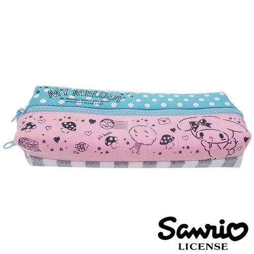 【日本正版】美樂蒂 My Melody 情書款 雙層 筆袋 鉛筆盒 三麗鷗 Sanrio - 424770
