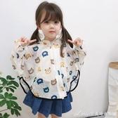 女童防曬衣服防紫外線洋氣中大兒童透氣薄款寶寶斗篷外套 快速出貨