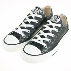 CONVERSE~All Start-基本款 低筒 皮質 帆布鞋(黑)(132174C )