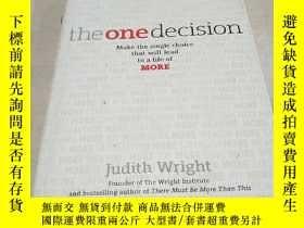 二手書博民逛書店THE罕見ONE DECISION(唯一的決定)(英文)Y200