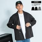 西裝外套 韓國時尚雅痞西裝外套【KJ191】寬鬆 落肩 情侶 瘦子外套 落肩 OVERSIZE 格紋 線條