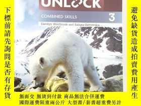 二手書博民逛書店unlock罕見3 B1 combined skills 劍橋英文教材 Y255761 無 無 出版2000