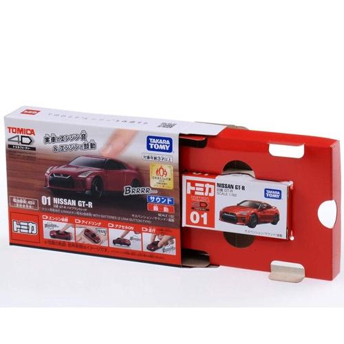 TOMICA 4D 小汽車 01 日產 GT-R Red_ TM10495