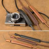 手工 純牛皮 索尼RX100M5 黑卡5 理光GR 相機背帶 相機肩帶 掛繩  魔法鞋櫃
