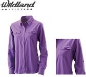 [速捷戶外] WildLand荒野 W1201-29女拉鏈可調節抗UV襯衫-紫色 (荒野.襯衫.透氣.輕透.UV)
