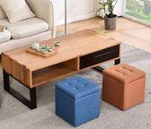 實木布藝換鞋凳時尚凳子創意沙發凳茶幾凳墩子圓凳家用小板凳擱腳 ATF 沸点奇迹