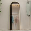 促銷 北歐簡約橢圓臥室穿衣鏡落地鏡化妝全身鏡服裝店試衣鏡壁掛衣帽鏡