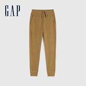 Gap男童 舒適基本款鬆緊休閒褲 910620-棕色
