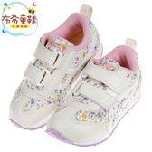 《布布童鞋》asics亞瑟士碎花紫窄版兒童機能運動鞋(16~20公分) [ P8V006F ]