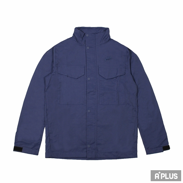 NIKE 男尼龍防風外套(連帽) AS M NSW SPE WVN UL M65 JKT 深藍-CZ9923410
